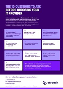 10 Questions to ask before Choosing your IT Provider