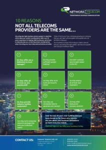10 Reasons not all Telecoms Providers are the Same Data Sheet