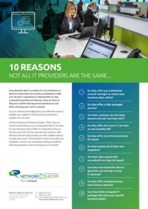 10 Reasons not all IT Providers are the Same