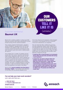 Baumot UK: Enreach Case Study