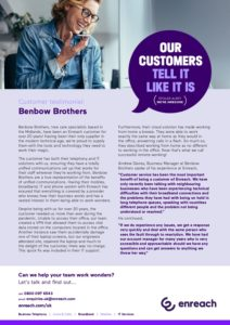 Benbow Brothers: Enreach Case Study