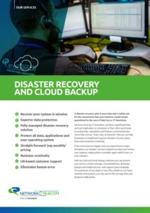 Disaster Recovery and Cloud Backup Data Sheet