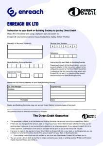 ENREACH Direct Debit Instruction
