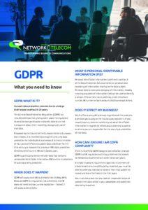 GDPR FAQs Data Sheet