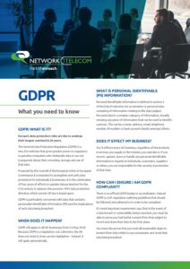 GDPR FAQs Data Sheet