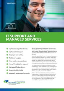 IT Support and Managed Services Data Sheet