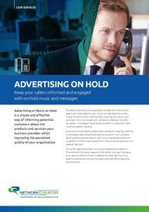 Advertising on Hold Data Sheet