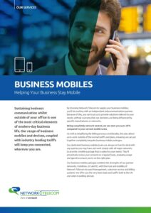 Business Mobiles Data Sheet