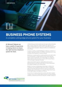 Business Phone Systems Data Sheet