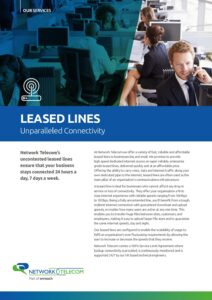 Leased Line Data Sheet