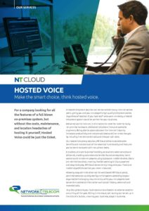 Hosted Voice Data Sheet