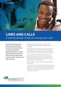 Lines & Calls Data Sheet