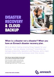 Disaster Recovery and Cloud Backup